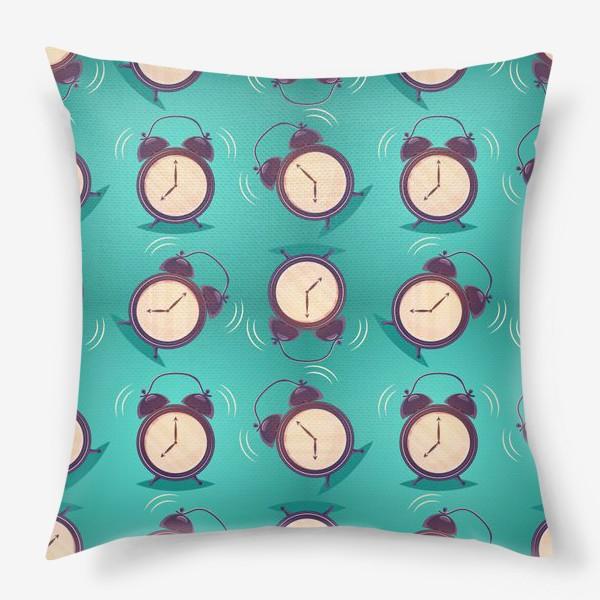 Подушка «Alarm clock, будильники»