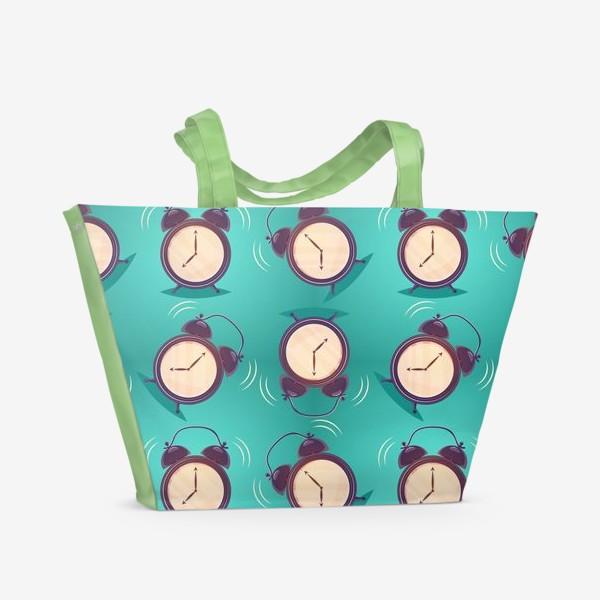 Пляжная сумка «Alarm clock, будильники»