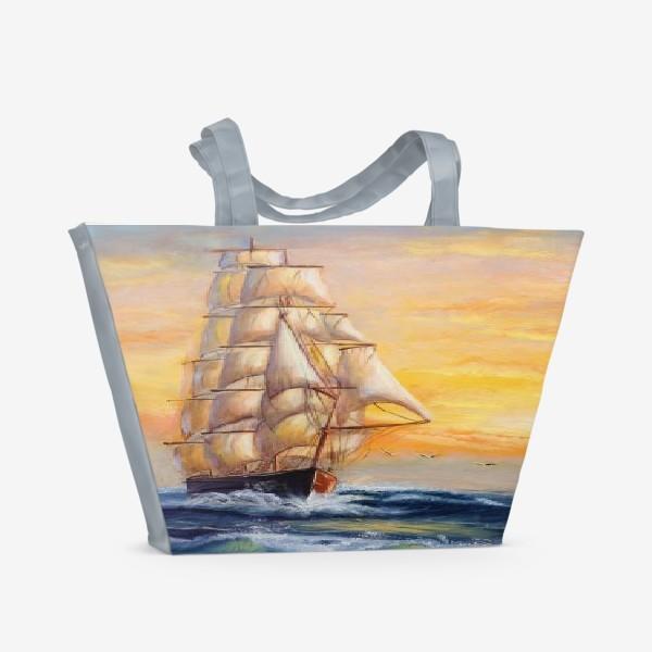 Пляжная сумка «Парусник»