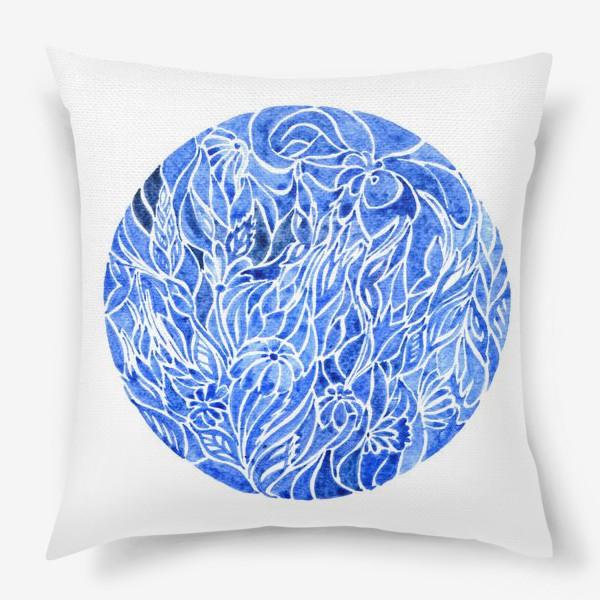 Подушка «Синий принт»