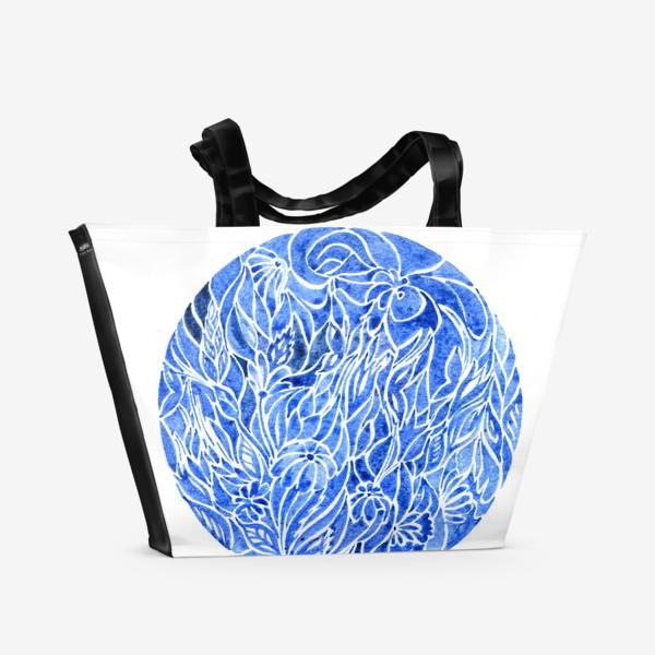 Пляжная сумка «Синий принт»