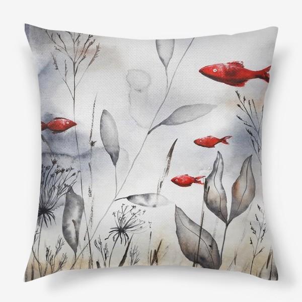Подушка «Красные рыбки»