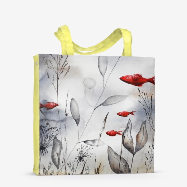 Сумка-шоппер «Красные рыбки»