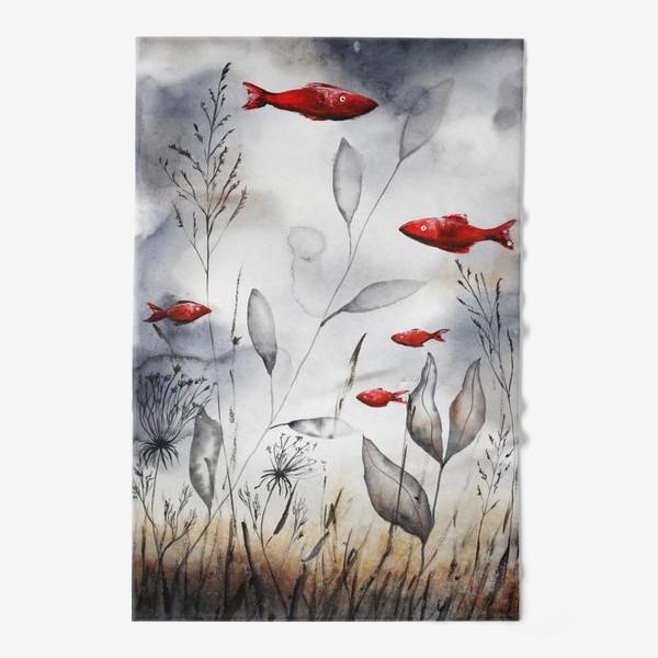 Полотенце «Красные рыбки»