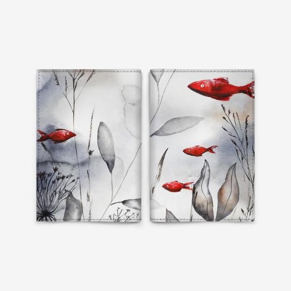 Обложка для паспорта «Красные рыбки»