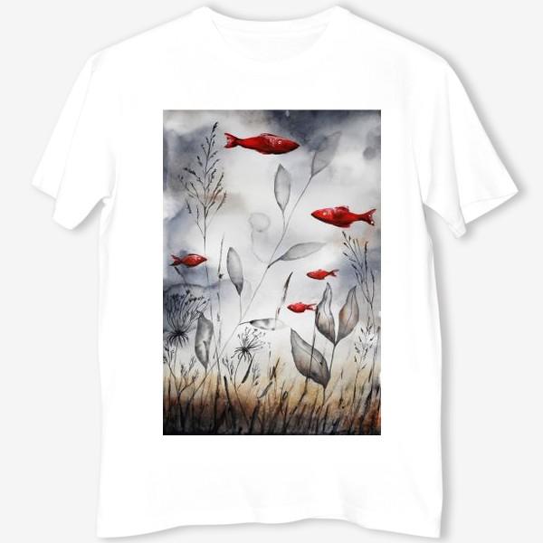 Футболка «Красные рыбки»