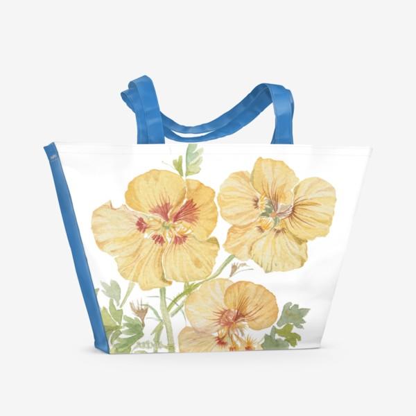 Пляжная сумка «Настурции»
