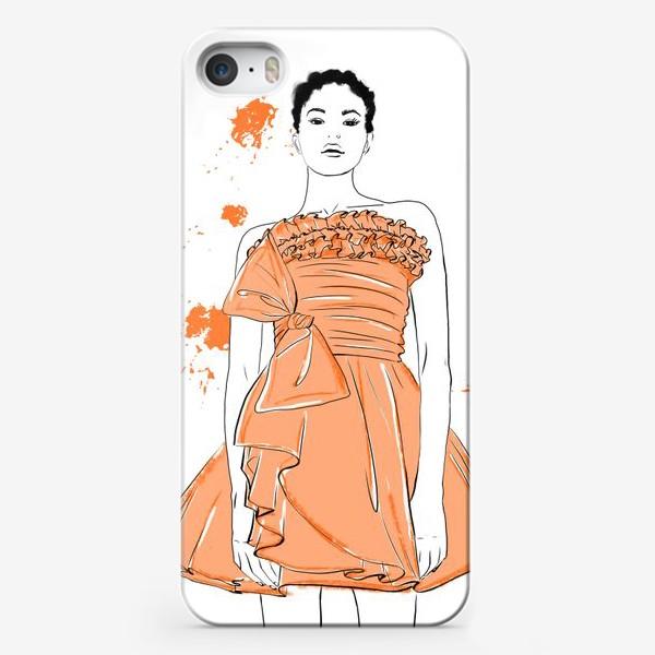 Чехол iPhone «Девушка в оранжевом платье.Белая негритянка»