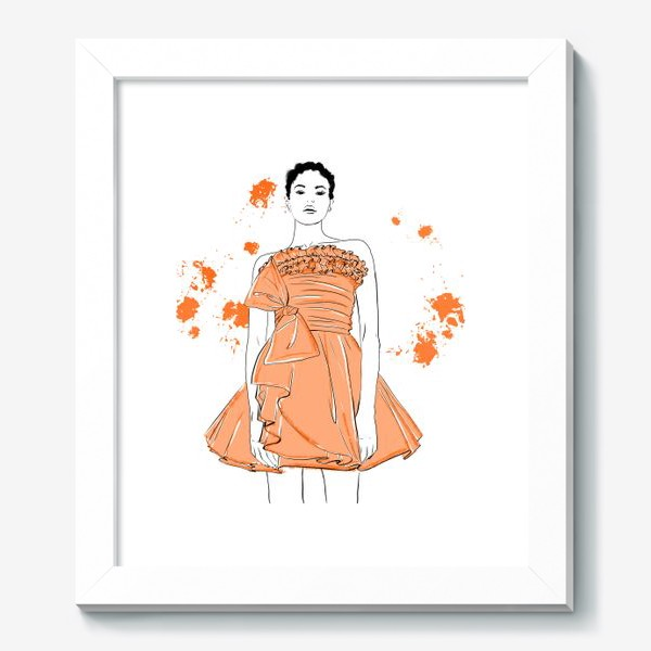 Картина «Девушка в оранжевом платье.Белая негритянка»