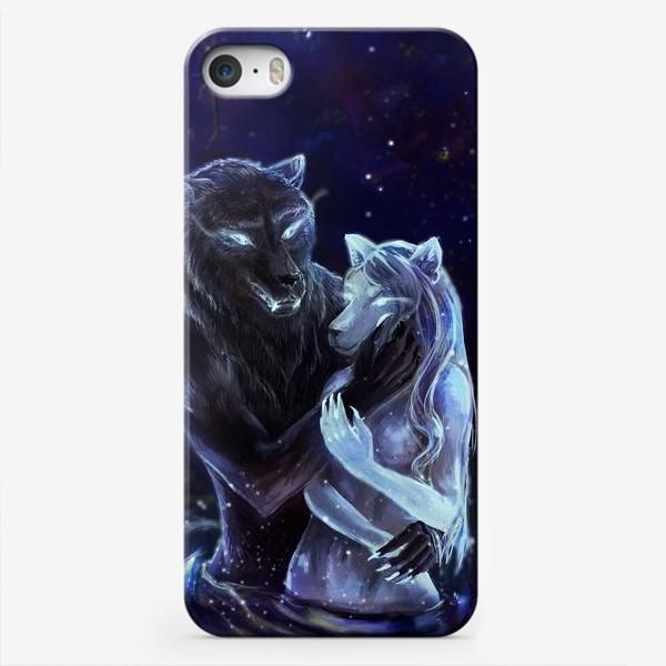 Чехол iPhone «Влюбленные волки»