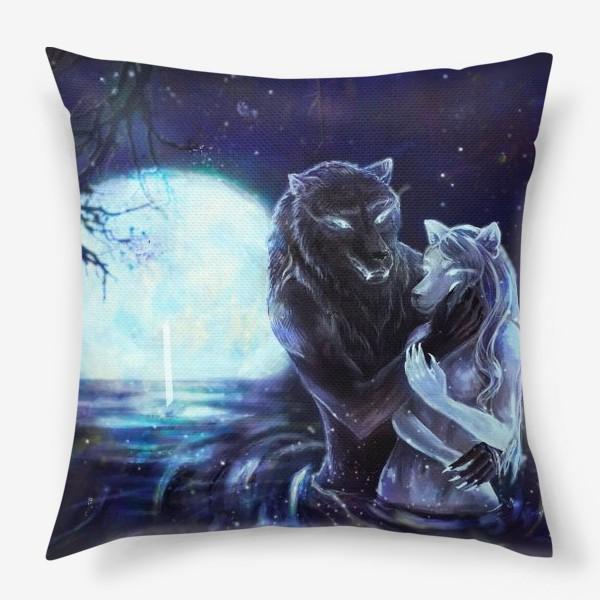 Подушка «Влюбленные волки»