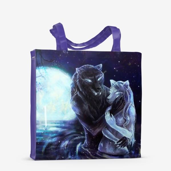 Сумка-шоппер «Влюбленные волки»