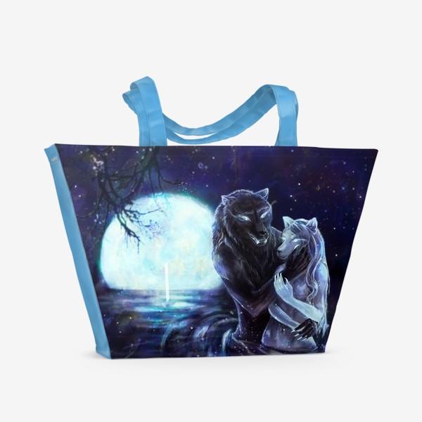 Пляжная сумка «Влюбленные волки»