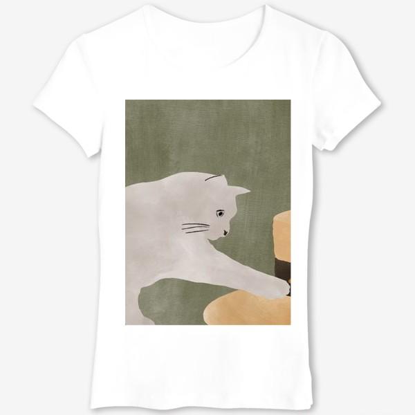 Футболка «Cat and hat»