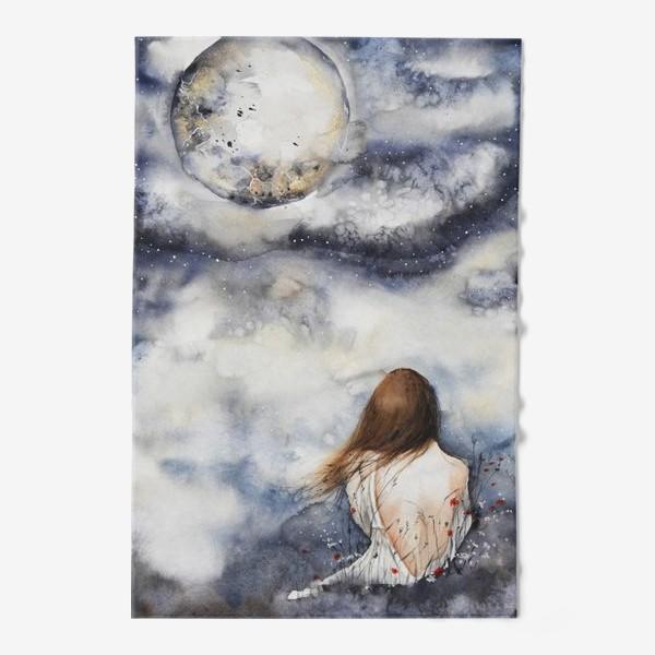 Полотенце «Девушка и луна»