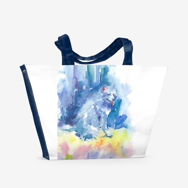 Пляжная сумка «Волшебный лес. Волк»