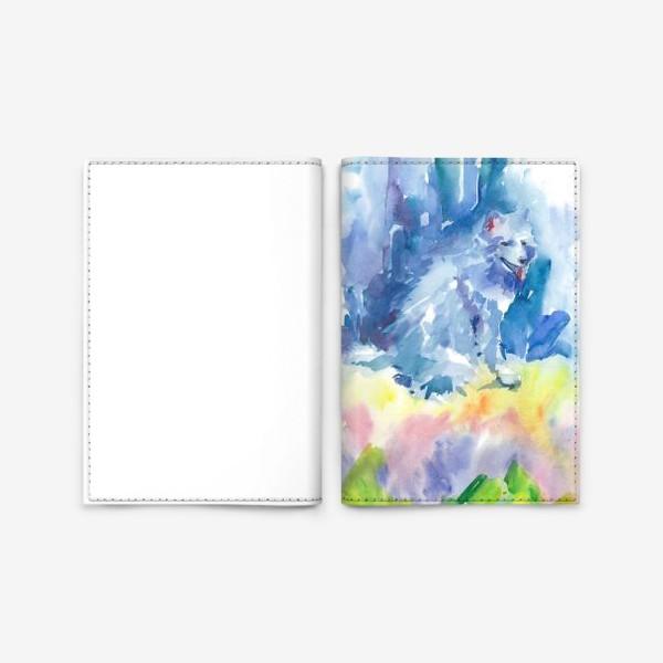 Обложка для паспорта «Волшебный лес. Волк»