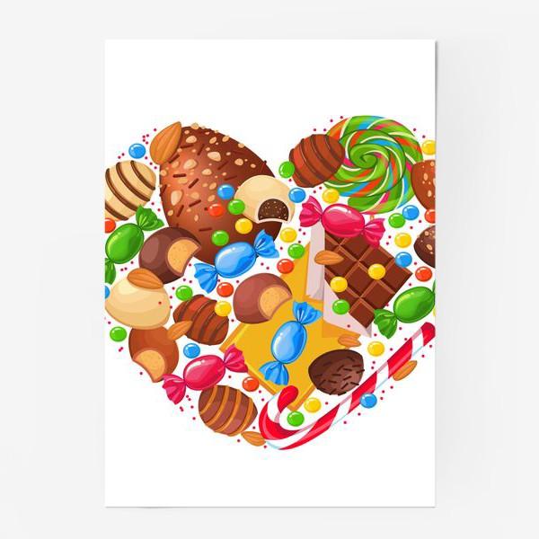 Постер «конфетное сердце»