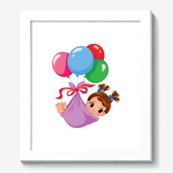 Картина «малышка в шариках»