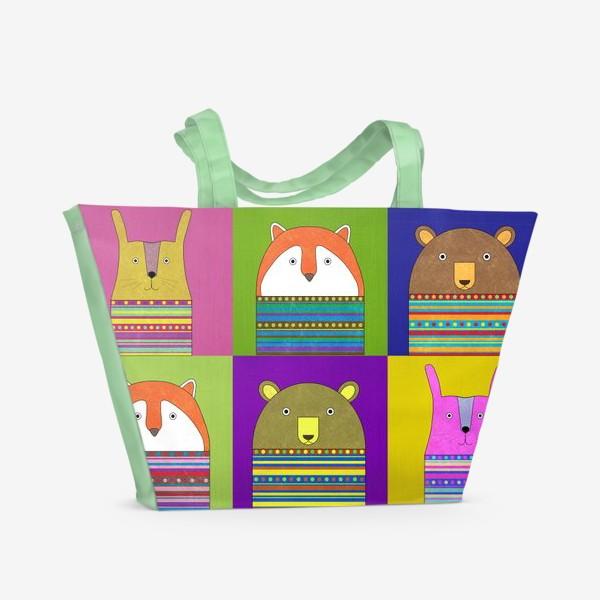 Пляжная сумка «зверики»