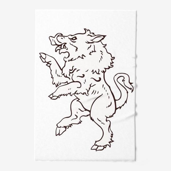 Полотенце «Кабан герб»