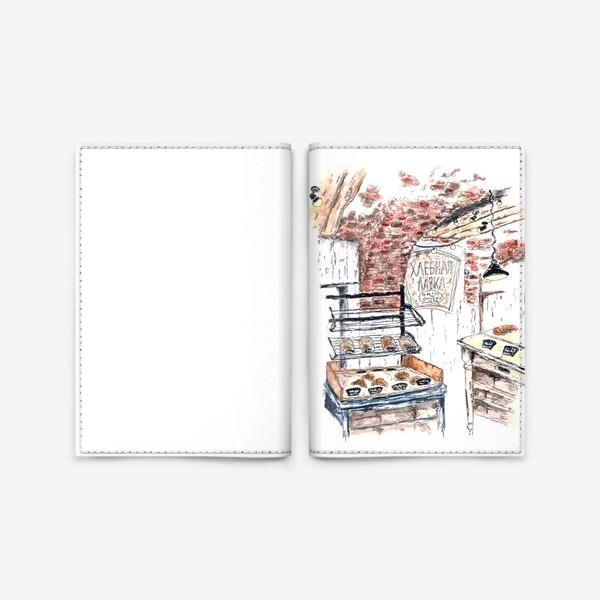 Обложка для паспорта «Питер скетч хлебная лавка»
