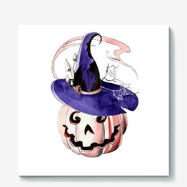 Холст «Тыква в волшебной шляпе»