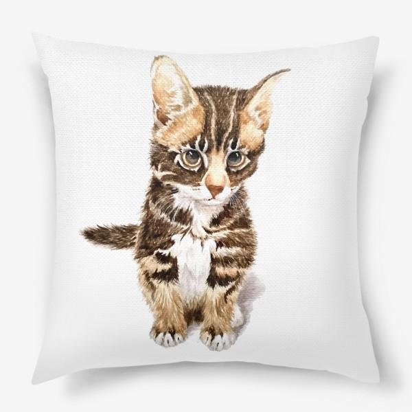 Подушка «Милый котенок сидит»