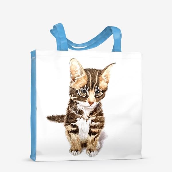 Сумка-шоппер «Милый котенок сидит»