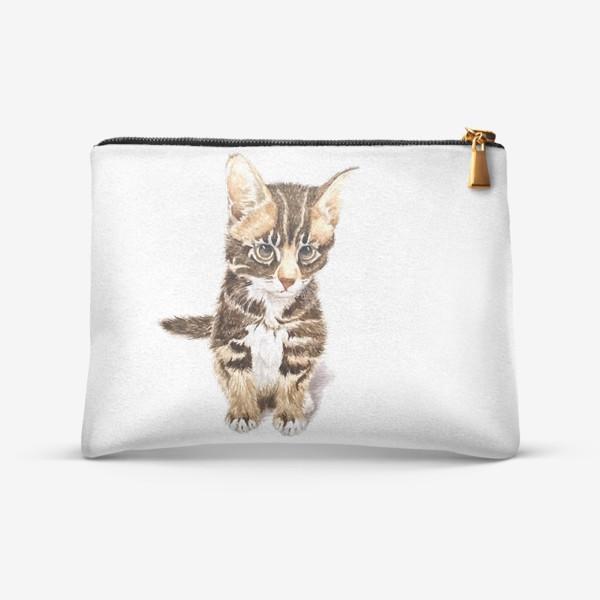 Косметичка «Милый котенок сидит»
