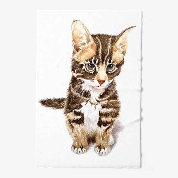 Полотенце «Милый котенок сидит»