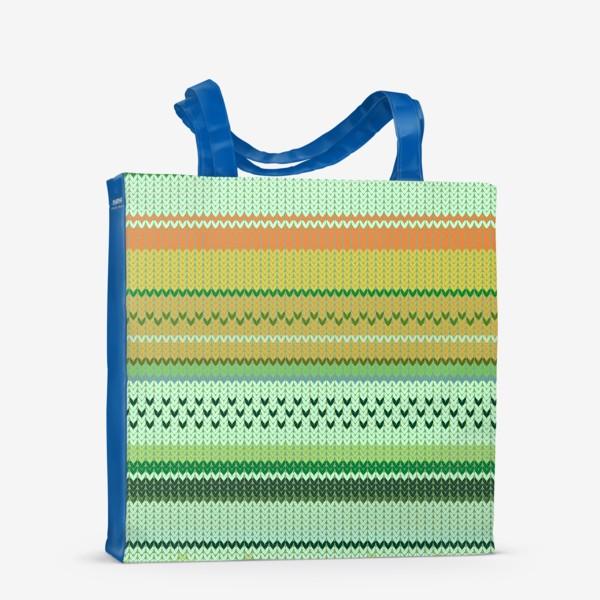 Сумка-шоппер «вязаный узор»