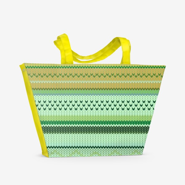 Пляжная сумка «вязаный узор»