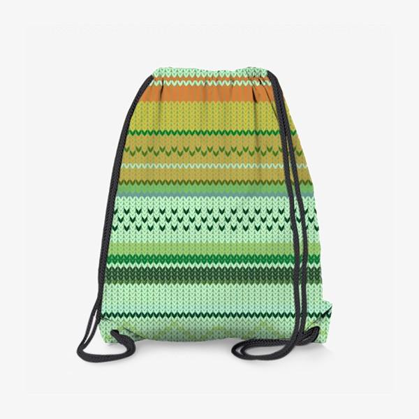 Рюкзак «вязаный узор»