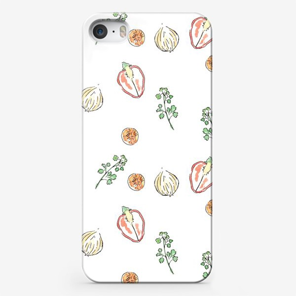 Чехол iPhone «Vegies pattern»