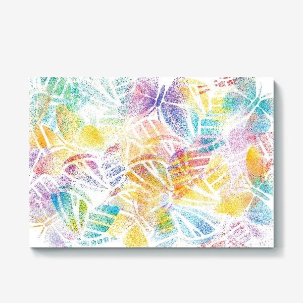 Холст «Абстрактные бабочки»