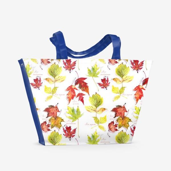 Пляжная сумка «Кленовый паттерн»