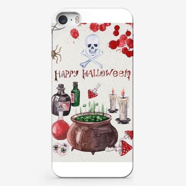 Чехол iPhone «Happy Halloween. Счастливого Хелоуина. Постер-открытка символика Хелоуина»