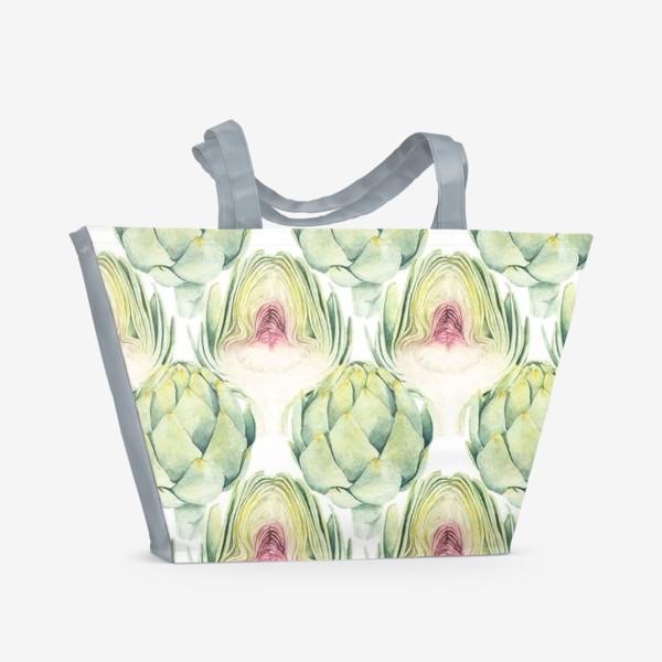Пляжная сумка «Артишок, artichok»
