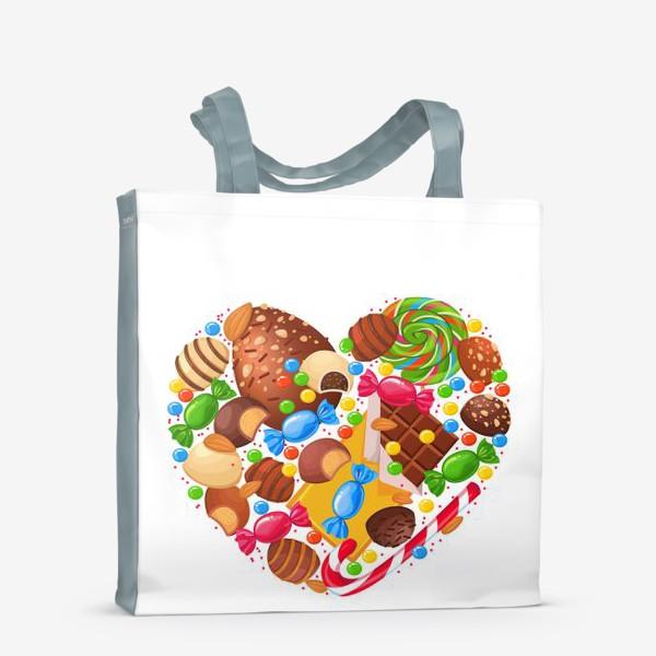 Сумка-шоппер «конфетное сердце»