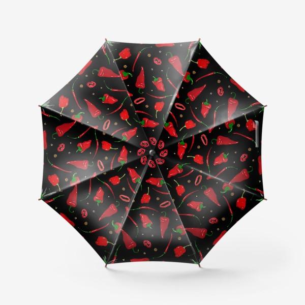 Зонт «красные острые перцы»