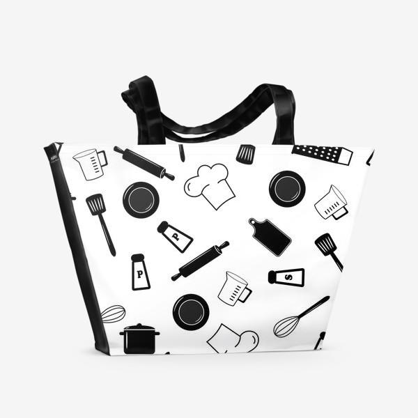 Пляжная сумка «Кухонная посуда»