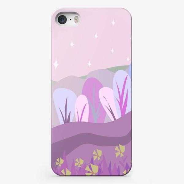 Чехол iPhone «Розовый пейзаж »