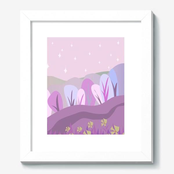 Картина «Розовый пейзаж »