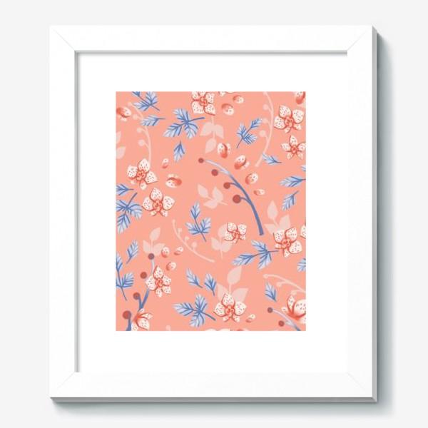 Картина «Нежные орхидеи на персиковом»