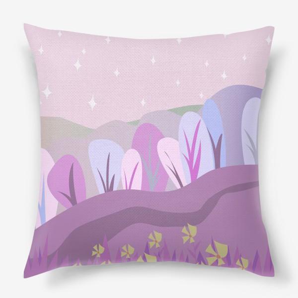 Подушка «Розовый пейзаж »