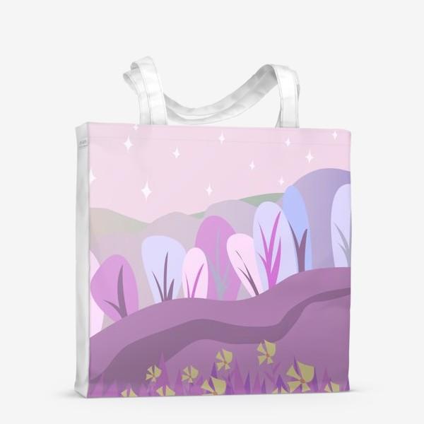 Сумка-шоппер «Розовый пейзаж »