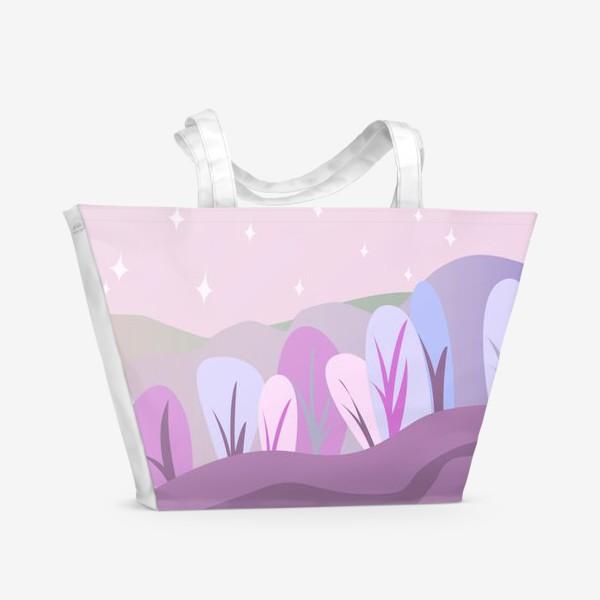 Пляжная сумка «Розовый пейзаж »