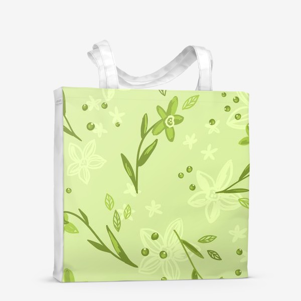 Сумка-шоппер «Зелёные нарциссы»