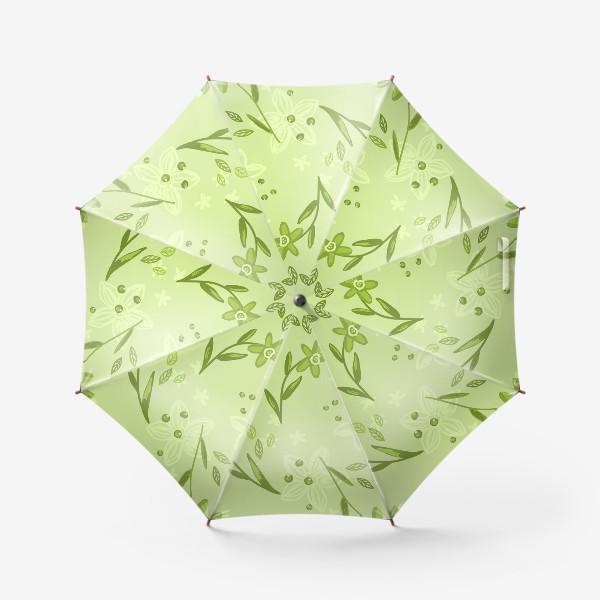 Зонт «Зелёные нарциссы»